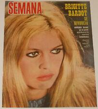 BRIGITTE BARDOT Semana 1968 cover & 2 page article Spain magazine clippings