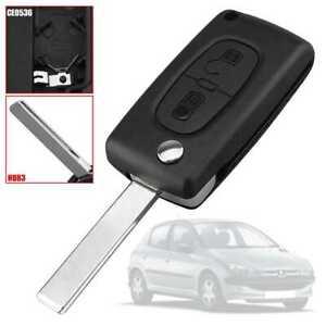 Chiave Guscio Cover CE0536 HU83 Scocca Telecomando 2Tasti per Peugeot 206 207