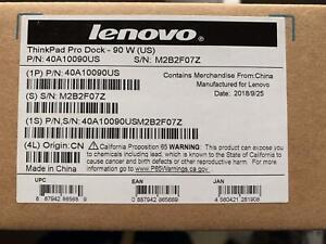 New Lenovo ThinkPad Pro Dock 90W Docking Station Open Box
