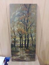 "Vintage oil painting on canvas 1976 year ""Autumn landscape"""