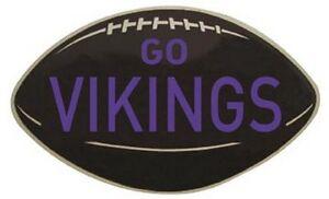 """Minnesota Vikings   Vintage Looking  1950's   """"Go Vikings""""   Decal NFL   Sticker"""
