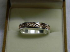 Clogau Silver & Rose Welsh Gold Annwyl Ring size M RRP £149.00