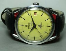 Mens Vintage Titoni Airmaster Rotomatic DATE Swiss WRIST Watch B165 Yellow Dial