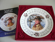 Royal Doulton Christmas Carols Plate While Shepherds Watched 1984 2Nd In Series