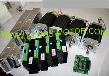 EU ship 4Axis Nema34 Stepper  Motor 1600oz  Driver DM860A Power CNC longs motor