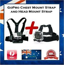 GoPro Hero 5 / 4 / 3+ / Session Chest Harness & Head Strap Mount Go Pro Chesty