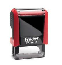Trodat Printy 4910 Self Inking Rubber Text & Logo Stamp 25x9mm ( up to 2lines  )