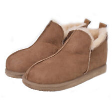 Sheepskin Bootee Slippers with Hard Sole for Men and Ladies by Shepherd