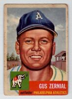 1953 Topps #42 Gus Zernial Philadelphia Athletics good condition $30 BV