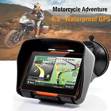 """Motorcycle Sat Nav 4.3"""" 8GB Waterproof Adventure Bike GPS Navigation Bluetooth"""