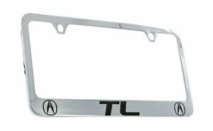 Acura TL Chrome Plated Metal License Plate Frame Holder