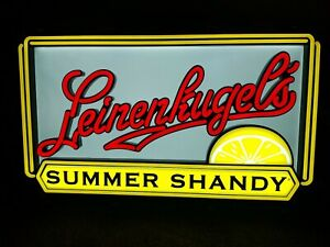 Leinenkugels summer Shandy beer led light up bar sign game room man cave new