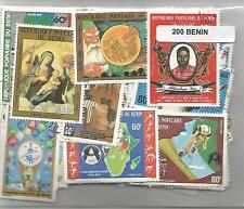Lot 200 timbres du Benin