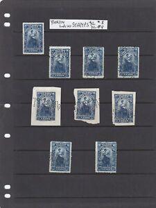 Yukon Canada Nine Law Stamps Van Dam YL#8 & YL#9