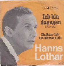 """7"""" Hanns Lothar Ein Kater läßt das Mausen nicht / Ich bin dagegen 60`s"""