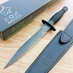 "Fox Fairbairn Sykes Fixed Knife 6.63"" N690 Steel Blade Black Aluminum Handle 592"