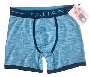 """Tahari Men's Blue 4"""" Inseam Boxer Briefs Soft Touch Underwear"""