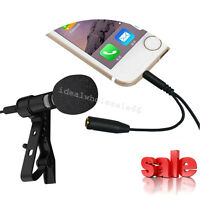 Lavalier Lapel Clip-on Omnidirectional Condenser Mic Microphone for Smart Phone