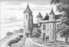 FRANCE - LOCHES : TOUR d'AGNÈS SOREL - Gravure du 19eme siècle
