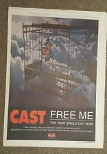 Cast Free me 1997 press advert Full page 30 x 40 cm mini poster