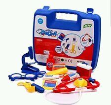 Blue Kids Childrens Doctor Nurses Toy Medical Set Role Play Hard Carry Case Blue