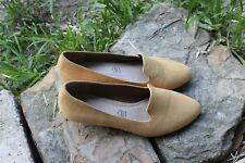 NOVO Mustard Beige Suede Flats Leather Sock Size 5/ 23 cm Top Condition