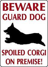 Pembroke Welsh Corgi Guard Dog 10 x 14 Aluminum Outdoor Sign Home, yard decor