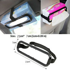 Car Tissue Napkin Box Holder Auto Vehicle Seat Visor Paper Organiser Storage QM