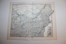 Carte de 1879, atlas Stieler,Gotha J. Perthes  Nord America New York etc N°83