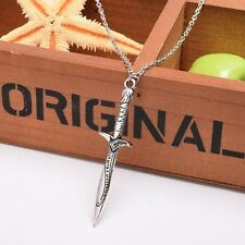 THE LORD OF THE RINGS LOTR/HOBBIT Antique Sting Silver Sword Pendant Necklace