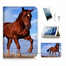( For iPad mini Gen 1 2 3 ) Flip Case Cover P3283 Horse