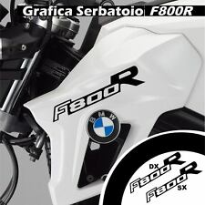 GRAFICA CARENA ADESIVO SERBATOIO BMW F800R F800 R CARENE STICKERS NERO ADESIVI