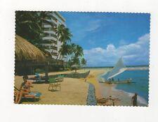 Golden Sand Beach Of Sanur Bali 1979 Postcard 725a