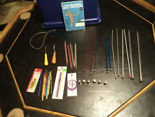 Knitting Needles, Crochet Needles, Pins, Hooks, Thimbles, Book Lot