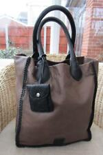 a70eb7c74c BETTY JACKSON Designer Brown & Black LEATHER Large Tote Bag EXC COND