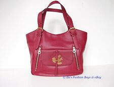 NWT MARC JACOBS Birdie Petal to the Metal Leather Hobo Shoulder Bag WINE RED
