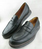 Cole Haan Grand OS Black Leather Apron Moc Toe Penny Loafers Shoes Men's 11.5 M