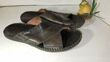 Pikolinos Tarifa Black Leather Sandals Slide Mens EU 44 Size 10