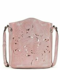 Patricia Nash Tooled Collection Lavello Pink Floral Burnout Crossbody Bag Sealed