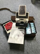 Vintage Polaroid SX-70 Model 2 Land Camera with instructions brown and white