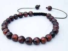 MEN's Shamballa Bracciale tutti 8mm Tiger Eye Stone beads