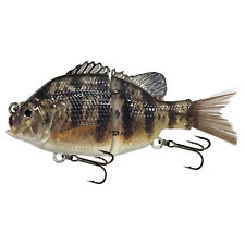 """KDS Custom Slow Sinking Jointed 4.5"""" Multi Section Swimbait - P2 Yellow Perch"""