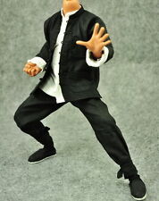 ZY Toys 1/6 Scale Set of Black Chinese Kong Fu Costume Set For Hot Toys Body