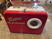RETRO RADIO (Red) The Silver Crane Company Limited Edition Tin Lunch Box