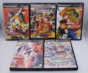 PS2 Capcom Fighting Jam, Marvel vs Capcom, Street Fighter EX3 more 5Games Japan