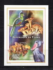Chad 1998 #773A   mushrooms fungi birds  sheet  MNH  F410