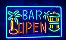 "New Wine Palm Tree Open Rum Whiskey Neon Light Sign 24""x20"" Lamp Poster"