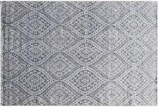 Modern Viscose Handmade Rug 6' x 9' Gray All-Over Floral Venetian Design Rug