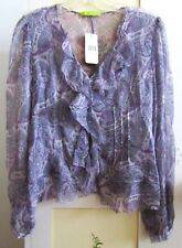 NEW Beautifully Detailed Sheer Top by SIGRID OLSEN~XS~NWT~Retail $239.00
