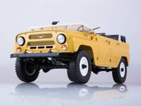 Scale model truck 1/18 UAZ-469 (31512) beige (open)